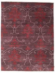 Himalaya Rug 236X307 Authentic  Modern Handknotted Dark Brown/Dark Purple (Wool/Bamboo Silk, India)
