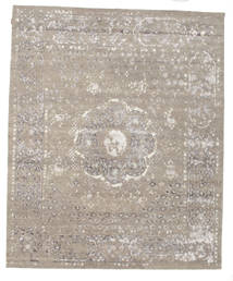 Himalaya Rug 253X307 Authentic  Modern Handknotted Light Brown/Light Grey Large (Wool/Bamboo Silk, India)