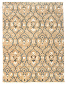 Himalaya Rug 227X298 Authentic  Modern Handknotted Dark Beige/Light Brown (Wool/Bamboo Silk, India)
