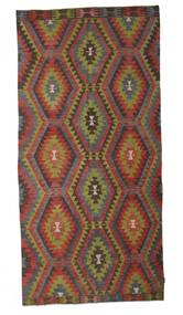 Kilim Semi Antique Turkish Rug 172X360 Authentic  Oriental Handwoven Dark Brown/Dark Grey/Dark Red (Wool, Turkey)
