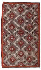 Kelim Semiantik Turkisk Matta 185X315 Äkta Orientalisk Handvävd Brun/Ljusbrun/Mörkbrun (Ull, Turkiet)