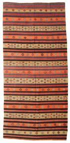 Kelim Semi-Antiek Turkije Vloerkleed 175X375 Echt Oosters Handgeweven Bruin/Oranje (Wol, Turkije)