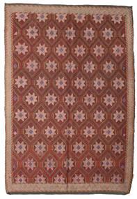 Kelim Semiantiikki Turkki Matto 192X280 Itämainen Käsinkudottu Tummanpunainen/Ruskea (Villa, Turkki)