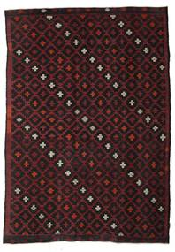 Kilim Semi Antique Turkish Rug 222X315 Authentic  Oriental Handwoven Dark Brown/Dark Red (Wool, Turkey)
