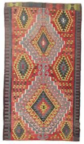 Kilim Semi Antique Turkish Rug 171X310 Authentic  Oriental Handwoven Dark Grey/Brown (Wool, Turkey)