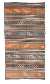 Kelim Halvt Antikke Tyrkiske Teppe 165X313 Ekte Orientalsk Håndvevd Mørk Grå/Lys Grå (Ull, Tyrkia)