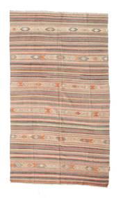 Kilim Semi Antique Turkish Rug 158X272 Authentic  Oriental Handwoven Light Pink/Dark Brown (Wool, Turkey)