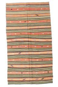 Kelim Halvt Antikke Tyrkiske Teppe 152X274 Ekte Orientalsk Håndvevd Mørk Beige/Mørk Grønn (Ull, Tyrkia)