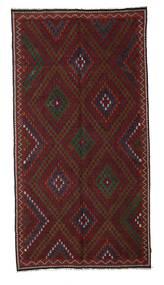 Kelim Halvt Antikke Tyrkiske Teppe 191X370 Ekte Orientalsk Håndvevd Mørk Rød (Ull, Tyrkia)