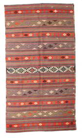 Kilim Semi Antique Turkish Rug 186X344 Authentic  Oriental Handwoven Rust Red/Brown (Wool, Turkey)