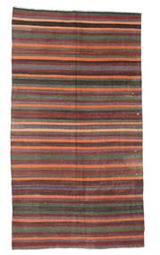 Kelim Semiantiikki Turkki Matto 184X335 Itämainen Käsinkudottu Tummanharmaa/Tummanpunainen (Villa, Turkki)