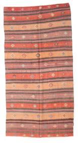 Kilim Semi Antique Turkish Rug 141X275 Authentic  Oriental Handwoven Light Pink/Dark Red (Wool, Turkey)