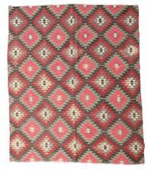 Kelim Semiantik Turkisk Matta 200X230 Äkta Orientalisk Handvävd Ljusbrun/Lila (Ull, Turkiet)