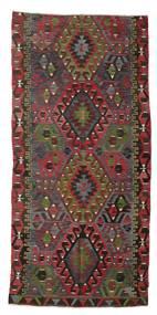 Kelim Semiantiikki Turkki Matto 171X356 Itämainen Käsinkudottu Tummanpunainen/Musta (Villa, Turkki)