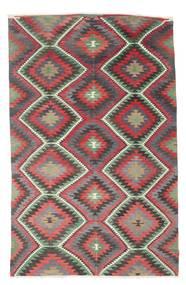 Kelim Halvt Antikke Tyrkiske Teppe 182X285 Ekte Orientalsk Håndvevd Mørk Grå/Brun (Ull, Tyrkia)