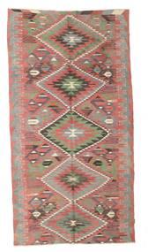Chilim Semi-Antic Turcia Covor 171X329 Orientale Lucrate De Mână Maro/Verde Oliv (Lână, Turcia)