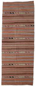 Kilim Semi Antique Turkish Rug 148X392 Authentic  Oriental Handwoven Hallway Runner  Light Brown/Brown (Wool, Turkey)