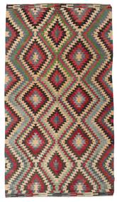 Kilim Semi Antique Turkish Rug 180X320 Authentic  Oriental Handwoven Dark Grey/Light Grey (Wool, Turkey)