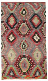 Kilim Semi Antique Turkish Rug 186X317 Authentic  Oriental Handwoven Dark Grey/Brown (Wool, Turkey)
