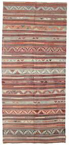 Kilim Semi Antique Turkish Rug 173X393 Authentic  Oriental Handwoven Hallway Runner  Light Brown/Brown (Wool, Turkey)