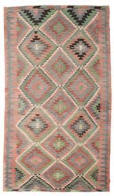 Kelim Semiantiikki Turkki Matto 196X341 Itämainen Käsinkudottu Vaaleanruskea/Vaaleanharmaa (Villa, Turkki)