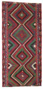 Kilim Semi-Antique Turquie Tapis 163X344 D'orient Tissé À La Main Noir/Rouge (Laine, Turquie)