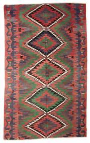 Kilim Semi Antique Turkish Rug 196X322 Authentic  Oriental Handwoven Dark Red/Dark Blue (Wool, Turkey)