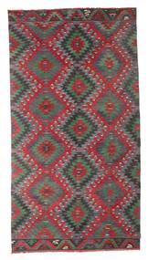 Kelim Semiantik Turkisk Matta 170X320 Äkta Orientalisk Handvävd Hallmatta Mörkgrå/Röd (Ull, Turkiet)