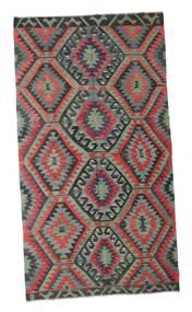Kilim Semi Antique Turkish Rug 162X293 Authentic  Oriental Handwoven Black/Light Grey (Wool, Turkey)