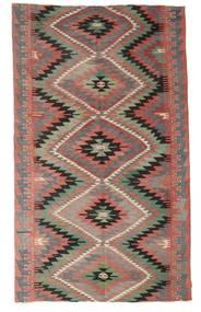 Kilim Semi Antique Turkish Rug 176X298 Authentic  Oriental Handwoven Brown/Dark Grey/Light Brown (Wool, Turkey)