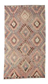 Kilim semi antique Turkish carpet XCGZK818