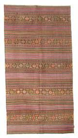 Kilim Semi Antique Turkish Rug 157X301 Authentic  Oriental Handwoven Brown/Dark Grey (Wool, Turkey)