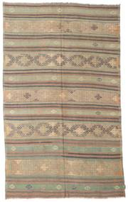 Kilim semi antique Turkish rug XCGZK793
