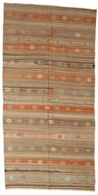 Kilim Semi Antique Turkish Rug 168X341 Authentic  Oriental Handwoven Light Brown/Brown (Wool, Turkey)