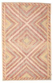 Kilim Semi-Antichi Turchi Tappeto 200X312 Orientale Tessuto A Mano Rosa Chiaro/Marrone Chiaro/Beige Scuro (Lana, Turchia)