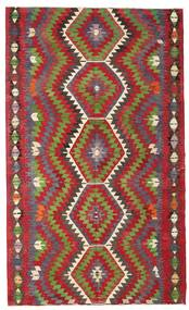 Kilim Semi Antique Turkish Rug 184X305 Authentic  Oriental Handwoven Dark Red/Olive Green (Wool, Turkey)