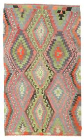 Kilim Semi Antique Turkish Rug 167X285 Authentic  Oriental Handwoven Brown/Light Green (Wool, Turkey)