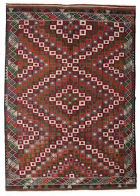 Chilim Semi-Antic Turcia Covor 202X290 Orientale Lucrate De Mână Roșu-Închis/Maro Închis (Lână, Turcia)