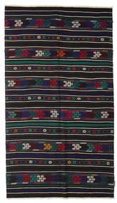 Kilim Pół -Antyk Tureckie Dywan 150X265 Orientalny Tkany Ręcznie Czarny/Ciemnofioletowy (Wełna, Turcja)