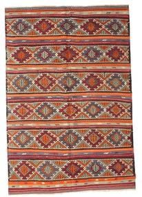 Kelim Semiantiikki Turkki Matto 180X266 Itämainen Käsinkudottu Ruskea/Tummanruskea (Villa, Turkki)