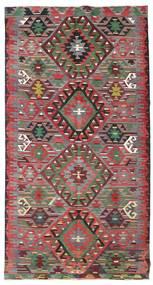 Kelim Semiantiikki Turkki Matto 176X332 Itämainen Käsinkudottu Ruoste/Tummanruskea (Villa, Turkki)