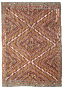 Kilim semi antique Turkish rug XCGZK466