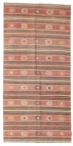 Kilim Pół -Antyk Tureckie Dywan 142X297 Orientalny Tkany Ręcznie Jasnobrązowy/Jasnoróżowy (Wełna, Turcja)