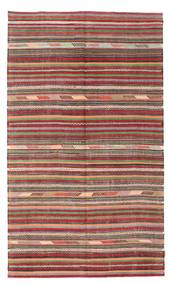 Kelim Semiantik Turkisk Matta 162X277 Äkta Orientalisk Handvävd Brun/Ljusbrun (Ull, Turkiet)