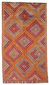 Chilim Semi-Antic Turcia Covor 170X306 Orientale Lucrate De Mână Roșu-Închis/Maro (Lână, Turcia)