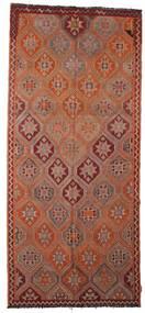 Kelim Semiantiikki Turkki Matto 150X338 Itämainen Käsinkudottu Käytävämatto Ruskea/Tummanpunainen (Villa, Turkki)