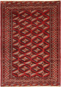 Turkaman Rug 203X290 Authentic  Oriental Handknotted Dark Red/Rust Red (Wool, Persia/Iran)