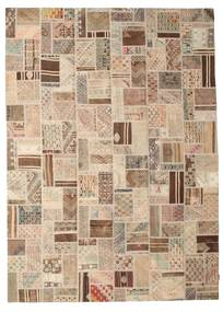Kilim Patchwork Rug 252X352 Authentic  Modern Handwoven Light Brown/Beige Large (Wool, Turkey)