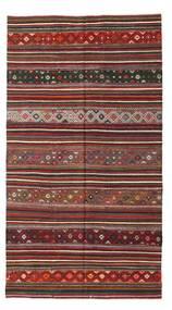 Kelim Semiantiikki Turkki Matto 183X334 Itämainen Käsinkudottu Ruskea/Tummanpunainen (Villa, Turkki)