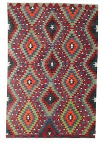Килим Полуантичный Турецкий Ковер 187X283 Сотканный Вручную Пурпурный/Темно-Красный (Шерсть, Турция)